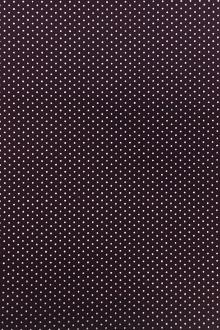 Cotton Broadcloth Petite Dot Print in Eggplant0
