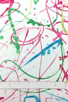 Cotton Twill With Paint Strokes Print0