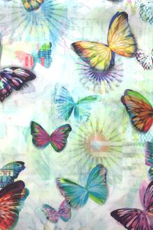 Cotton Butterflies Digital Print0