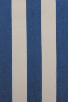 "Cotton Upholstery 1.5"" Stripe In Blue And Off White0"