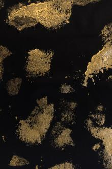Gold Handpainted Doubleface Silk Charmeuse0