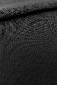 Japanese Cotton Pique Knit in Black0