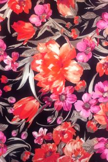 Cotton Spandex Floral Sateen Print0