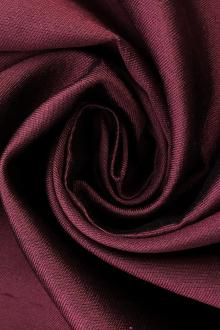 Silk and Wool Shantung in Wine0