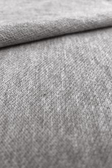 Japanese Cotton Pique Knit in Heather Grey0