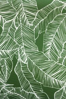 Green Leaves Polyester Outdoor Print0