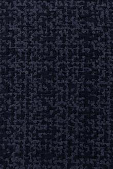 Italian Cotton Nylon Tweed in Navy0