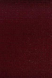 Wool and Nylon Lurex Tweed in Bordeaux0