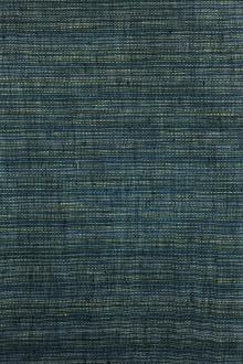 Linen Woven Stripe in Blue and Yellow0