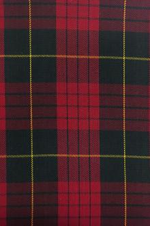 Cotton Tartan Plaid in Red Black and Gold0