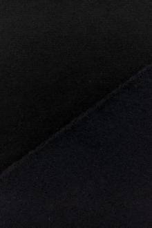 Italian Virgin Wool and Lycra Doubleface Coating in Black and Navy0