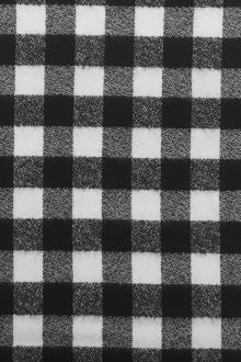 Cotton Mammoth Flannel Check in Black and White0