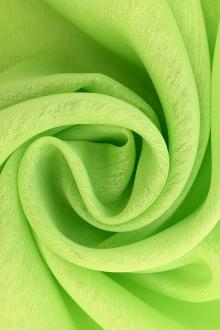 Iridescent Polyester Chiffon in Lime0