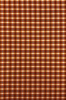 Stretch Wool Suiting Tattersall Plaid in Orange0
