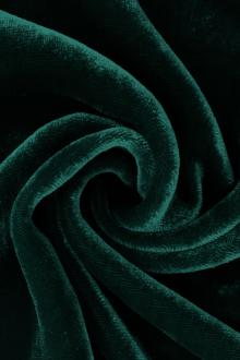 Silk and Rayon Velvet in Dark Teal0
