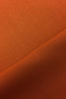 Italian Wool Satin Faille in Burnt Orange0