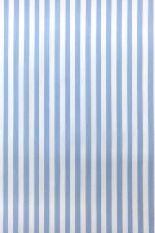 Pima Cotton Shirting Stripe in Baby Blue0