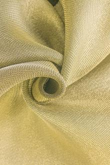 Silk and Viscose Metallic Crepe with Gold Back0