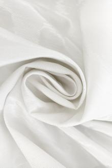 French Silk and Viscose Blend Moiré in Silk White0