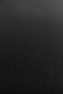 Italian Stretch Virgin Wool Twill Suiting in Nero0
