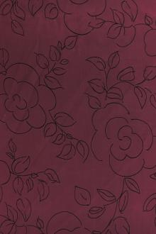 REDUCED Printed Chiffon with Sketched Flowers0