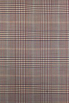 Italian Wool Lycra Glen Plaid in Ochre0