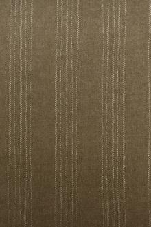 REDUCED Wool and Lurex Stripe in Taupe Brown0