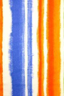 Linen Upholstery Watercolor Stripes Print0