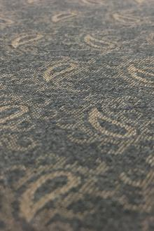 Italian Wool Lycra Paisley Jacquard Suiting in Grey0