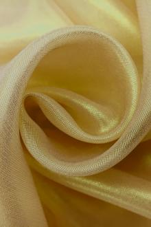 Microfiber Gold Metallic Chiffon in Sand0