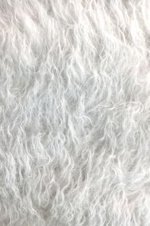 Mohair Faux Fur in Silver0
