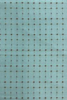 Aqua Blue Cotton Woven Novelty0