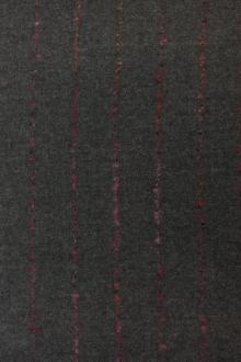 REDUCED Wool Novelty Stripe in Graphite0