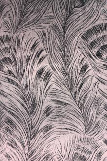 Grey Violet Feathers Silk Lurex Panne Velvet0