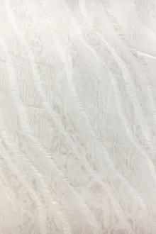 Novelty Ruffled Silk Organza in Silk White0