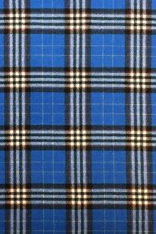 Italian Virgin Wool Tartan Plaid in Bluette0
