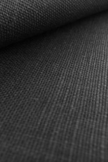 Medium Weight Linen in Black0