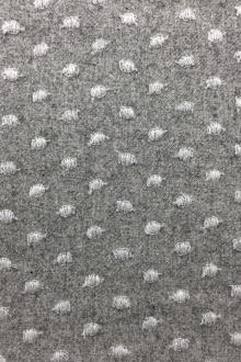 Cotton Wool Flannel With Embroidered Dots0