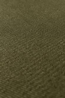 Japanese Cotton Blend Denim in Dark Olive0