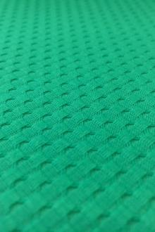 Cotton Stretch Pique in Jade Green0