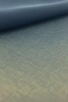 Japanese Polyester Chiffon in Space Cadet Blue0
