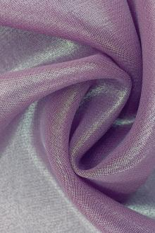 Microfiber Gold Metallic Chiffon in Orchid0