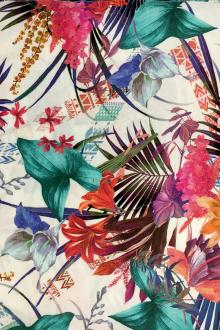 Viscose Print with Mixed Tropical Florals0