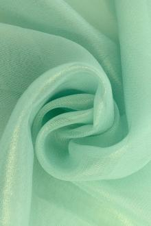 Microfiber Gold Metallic Chiffon in Robins Egg Blue0