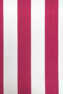 "Cotton Upholstery 1.5"" Stripe In Fuchsia And White0"
