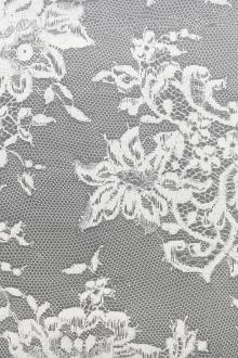 Screenprinted Silk Organza with Honeycomb Patterns and Florals0