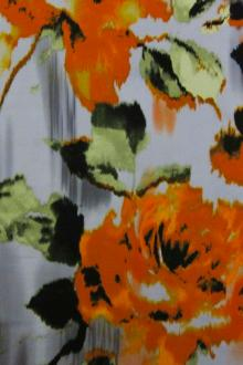 Cotton Sateen Floral Print0