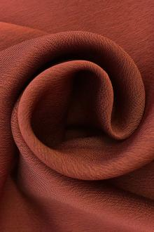 Iridescent Polyester Chiffon in Rust0