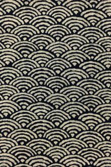 Japanese Textured Cotton With Scales Repeat0