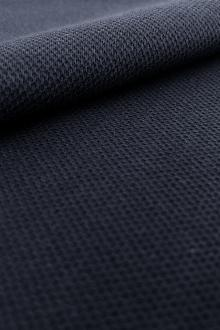 Japanese Cotton Blend Heavy Pique Knit in Navy0